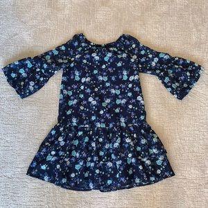 Children's place girls floral ruffley top